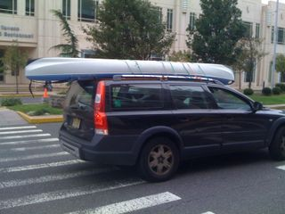 The black car (plus kayak) at the Atlantic City Convention Center