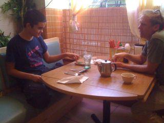 Early dinner at the Vietnamese restaurant