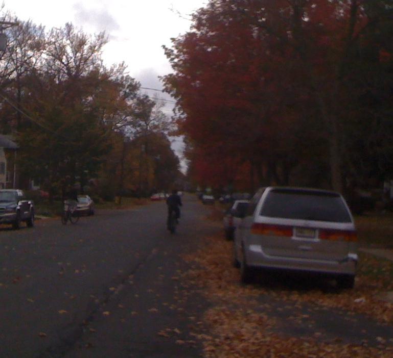 Jim and Charlie on Halloween Bike Ride #2