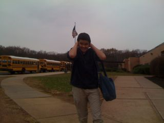 Charlie leaving the middle school where he was a student from June 2008-November 13, 2009