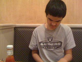 Charlie at his favorite diner