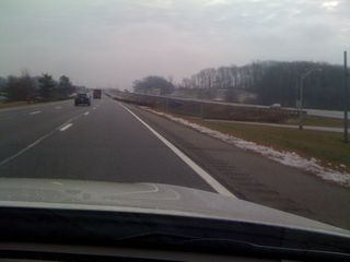 No traffic on the Garden State Parkway going down the shore on New Year's Day MMX