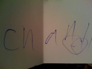 Charlie's signature on a thank-you note
