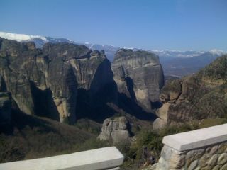 Mountains in Meteora