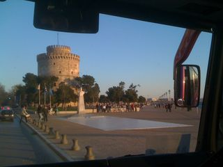 View of the White Tower (Levkos Pyrgos) in Thessaloniki