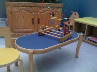 In the pediatric ER waiting room: Charlie once had this bead coaster