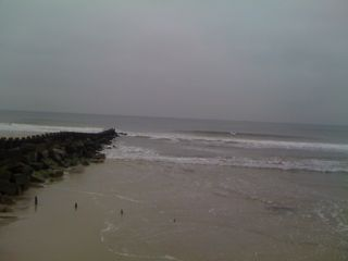 The beach in winter (with surfers, not that you can see them)