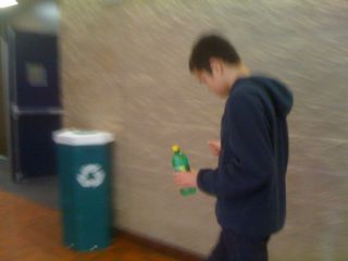 Charlie walking in the Yanitelli Center on Sunday