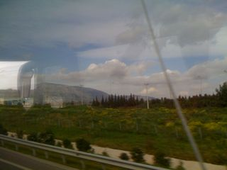 On the way into Athens from Eleftherios airport