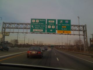 Nearing the Pulaski Skyway on Routes 1 & 9 North