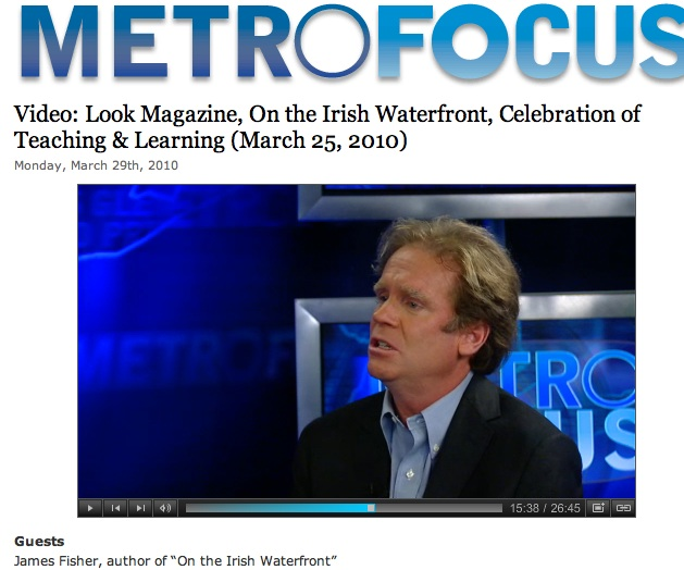 Jim on MetroFocus, Channel 13, PBS