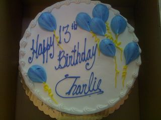 Charlie's 13th birthday cake
