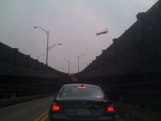 I only took this photo because I was not moving for several minutes on the Broadway ramp of the Pulaski Skyway