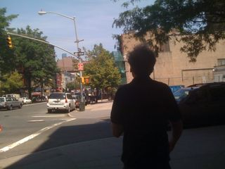 Jim walking in Greenwich Village