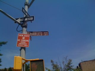 Charles St sign in Greenwich Village