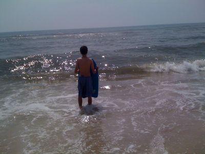 Charlie and his beloved ocean