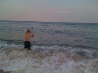 Charlie in the beautiful ocean