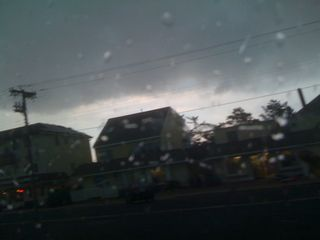 Ominous sky darkening over the ocean scene