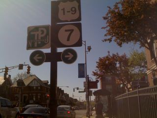 Signage, corner of JFK Blvd and Montgomery in Jersey City