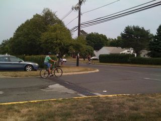 Charlie and Jim at the beginning of a central Jersey biking tour