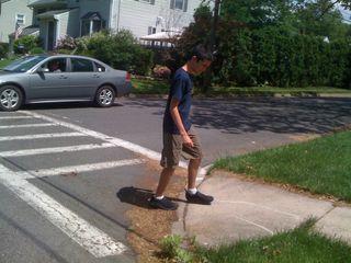 Charlie walking on