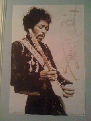 Charlie's new Jimi Hendrix poster
