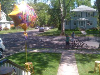Birthday balloon + bikes