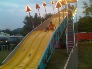 Down the giant slide
