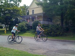 My gazillionth photo of Jim and Charlie riding bikes