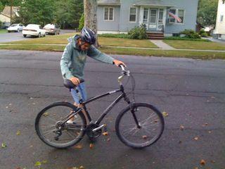 Charlie ready to roll on a virtually dry bike ride (#3)