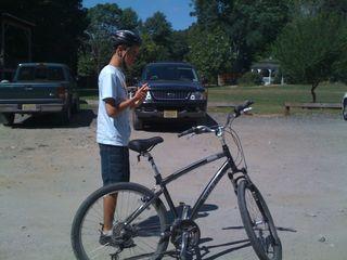 Boy + bike